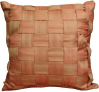 Aalidhra Techtex Self Design Cushions Cover (Brown)