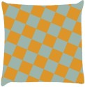 Snoogg Chequered Pattern Design 2294 Throw Pillows 16 X 16 Inch Cushions Cover - Pack Of 1