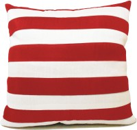 ZIKRAK EXIM Straight Stripe Red N White Striped Cushions Cover (40*40, Red, White)