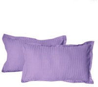 Hothaat Striped Pillows Cover (Pack Of 2, 30 Cm*20 Cm, Purple)