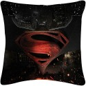 Amore Decor Superman And Batman Logo Cushions Cover - Pack Of 1