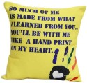 Gifts By Meeta Yellow Printed Cushions Cover - Pack Of 1