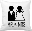 Tiedribbons Mr And Mrs Cushion Cover - Pack Of 1