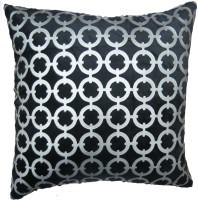 Aawrun Velvet Coin Foil Print (Black) Printed Cushions Cover (40 Cm*40 Cm)