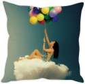 StyBuzz Girl With Balloons Cushion Cushions Cover - CPCDWR74SXYZWEEU