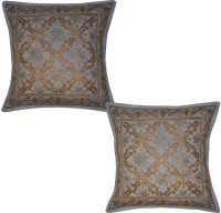 Lal Haveli Embroidered Cushions Cover (Pack Of 2, 41 Cm*41 Cm, Grey) - CPCE8BZ9ZA7FYEJU