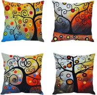 Stybuzz Abstract Cushions Cover Pack Of 4, 40.64 Cm*40.64 Cm, Multicolor