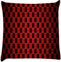 Snoogg Chequered Pattern Design 1118 Throw Pillows 16 X 16 Inch Cushions Cover - Pack Of 1