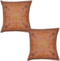 Lal Haveli Embroidered Cushions Cover (Pack Of 2, 41 Cm*41 Cm, Peach) - CPCE8BZ9MPUEREZZ