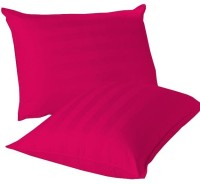 LNT Linen Striped Cushions, Pillows Cover (Pack Of 2, 43.2 Cm*69 Cm, Pink)