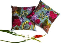 KwickDeal Kantha Work Bird Print Cushions Cover (Pack Of 2)