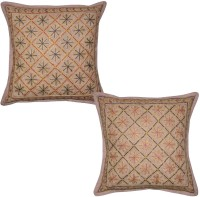 Lal Haveli Embroidered Cushions Cover (Pack Of 2, 41 Cm*41 Cm, Brown) - CPCE8BZ9VDBM4FJ3