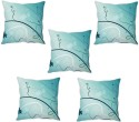 StyBuzz Blue Abstract Cushions Cover - Pack Of 5