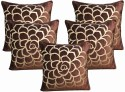 Dekor World Cotton Velvet Roses Collection Cushions Cover - Pack Of 5 - CPCDWYYRKAMZCFSD