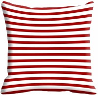 MeSleep Red Stripes Digitally Printed Cushions Cover (Pack Of 1)