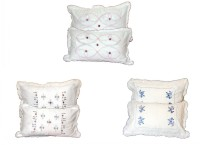 Christy's Collection Shades Of Paradise Embroidered Pillows Cover (Pack Of 6, 16 Cm*4 Cm)