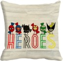 MeSleep Heroes Digitally Printed Cushions Cover - Pack Of 1