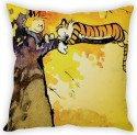 StyBuzz Calvin And Hobbs On Tree (12x12) Cushions Cover - Pack Of 1