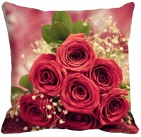 Mesleep Rose Digitally Printed Cushions Cover (Pack Of 1)