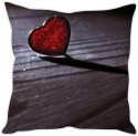 StyBuzz Crystal Heart Cushion Cover Cushions Cover - Pack Of 1