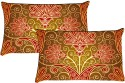 MeSleep Shades Of Flower Pillows Cover - Pack Of 2
