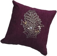 Elite Enterprises Embroidered Cushions Cover (Maroon)
