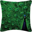 Amore Decor Peacock Cushions Cover - Pack Of 1