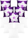 Zikrak Exim Laser Flower With Filler Cushions Cover - Pack Of 10