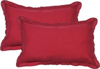 Furnishia Plain Pillows Cover (Pack Of 2, 45.72 Cm*68.58 Cm, Red)