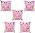 StyBuzz Pink Abstract Cushions Cover - Pack Of 5