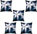StyBuzz White Floral Abstract Cushions Cover - Pack Of 5 - CPCDXMBMNDPFJHCM