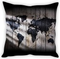 StyBuzz Map On Wood Cushion Cover Cushions Cover - Pack Of 1