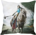 StyBuzz Warrior Girl On Horse Cushions Cover - Pack Of 1