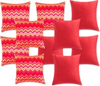 SEJ By Nisha Gupta Hd Tussar Silk Geometric Cushions Cover (Pack Of 10, 32 Cm*32 Cm, Multicolor)