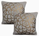 Dekor World Cotton Velvet Roses Collection Cushions Cover - Pack Of 2