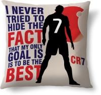 ShopMantra Ronaldo Quote Printed Cushions Cover (Cushion Pillow Cover, 40.64 Cm*40.64 Cm)