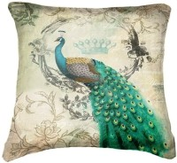 Belkado Digital Print Peacock IV Cushions Cover (Pack Of 1)