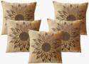 Dekor World Cotton Velvet Rising Sun Cushions Cover - Pack Of 5