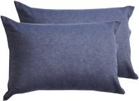 Milano Home Plain Pillows Cover Pack Of 2, 48 Cm*76 Cm, Dark Blue