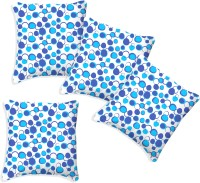 Smart Home Textile Polka Cushions Cover (Pack Of 4, 40 Cm*40 Cm, Blue, White)