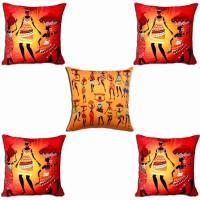 Roopak Printed Cushions Cover (Pack Of 5, 40 Cm*40 Cm, Multicolor) - CPCE898YK8NSZJVJ