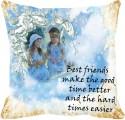 MeSleep Best Friends Digitally Printed Cushions Cover - Pack Of 1