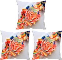 Aashi Homes Printed Pillows Cover Pack Of 3, 30 Cm*30 Cm, Orange