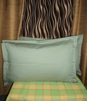 Amita Home Furnishing Striped Pillows Cover (Pack Of 2, 43 Cm*69 Cm, Green)