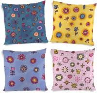 ShopMantra Colorful Seasons Collection Printed Cushions Cover (4 Cushion Pillow Cover, 40.64 Cm*40.64 Cm)