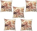 StyBuzz Beautiful Floral Art Cushions Cover - Pack Of 5