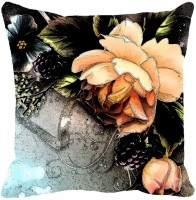 Leaf Designs Printed Cushions Cover (41 Inch*41 Inch, Pink)