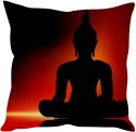StyBuzz Buddha In Red Black (12x12) Cushions Cover - Pack Of 1