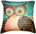 Belkado Digital Print Vintage Owl I Cushions Cover - Pack Of 1