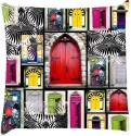Snoogg Doors Close To Open Throw Pillows 16 X 16 Inch Cushions Cover - Pack Of 1